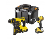 DeWALT DCK206M2T 18V SDS & Hammer Drill Twin Pack, 2 x 4.0Ah Batteries