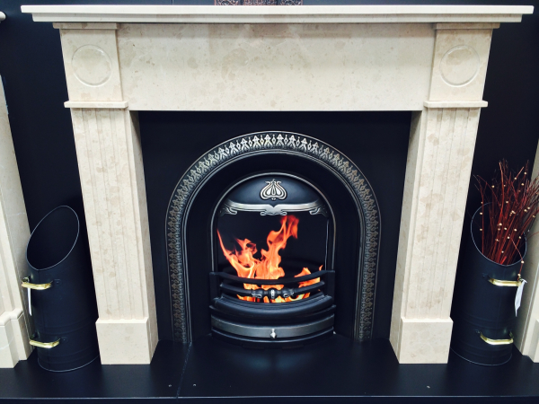 Classic Pillar Fireplace
