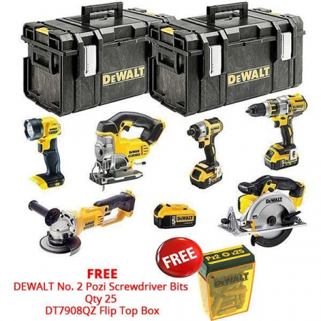 DEWALT DCK694P3 18V XR Brushless 6 Piece Kit 3x 5.0Ah