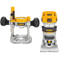 "900W 8mm ( 1/4"" ) Premium Plunge & Fixed Base Router Combination D26204K"