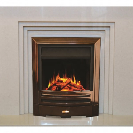 EVONIC EVOFLAME COLORADO CHROME INSET ELECTRIC FIRE WITH REMOTE CONTROL