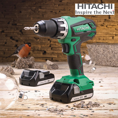 Hitachi 18V Combi Drill with 2 x 1.5Ah Li-Ion Batteries XMS17HIT18V
