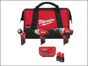 MILC12PP3B2 C12 PP3B 202 3 Piece Power Pack Kit 12 Volt 2 x 2.0Ah Li-Ion
