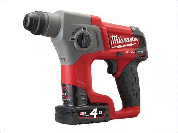 MILM12CH4F M12 Fuel™ CH-402C SDS Hammer 12 Volt 2 x 4.0Ah Li-Ion
