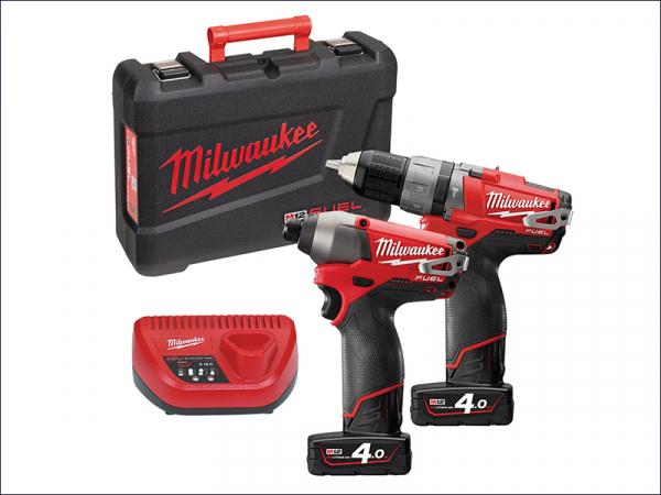 MILM12PP2A4F M12 Fuel™ PP2A-404C Twin Pack 12 Volt 2 x 4.0Ah Li-Ion