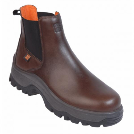 NO-RISK New Denver Dealer Safety Boot Brown S3