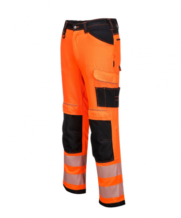 PW340 - PW3 Hi-Vis Work Trousers Orange/Black