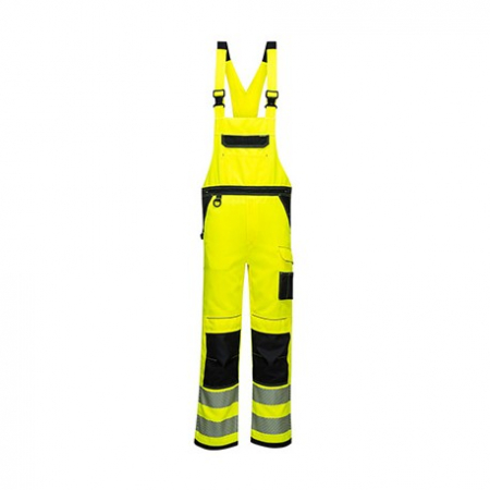 PW344 - PW3 Hi-Vis Bib & Brace Yellow/Black