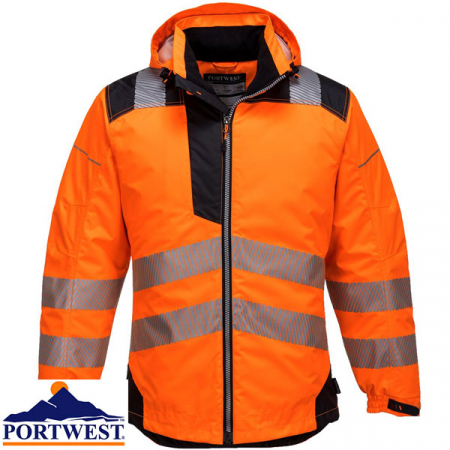 T400 - PW3 Hi-Vis Winter Jacket Orange/Black