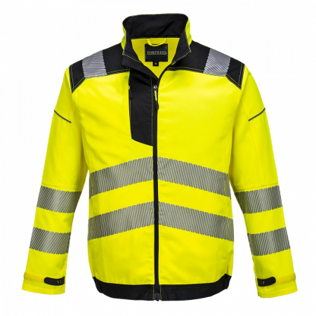 T500 - PW3 Hi-Vis Work Jacket Yellow/Black