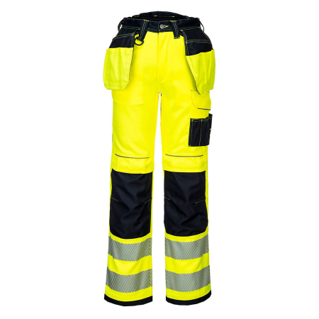 T501 - PW3 Hi-Vis Holster Work Trouser Yellow/Black