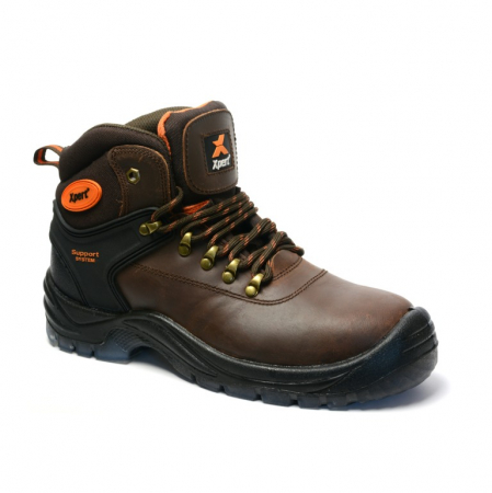 XPERT WARRIOR STEEL SAFETY BOOTS BROWN
