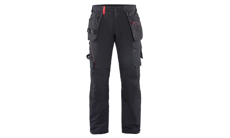 CRAFTSMAN TROUSERS 4-WAY STRETCH RED/BLACK