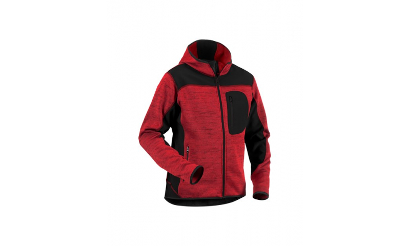 RED/BLACK KNITTED JACKET