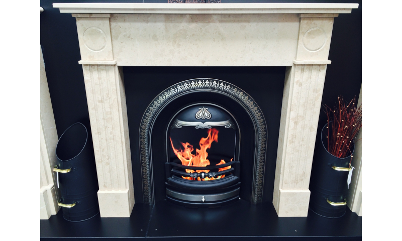 Classic Pillar Fireplace