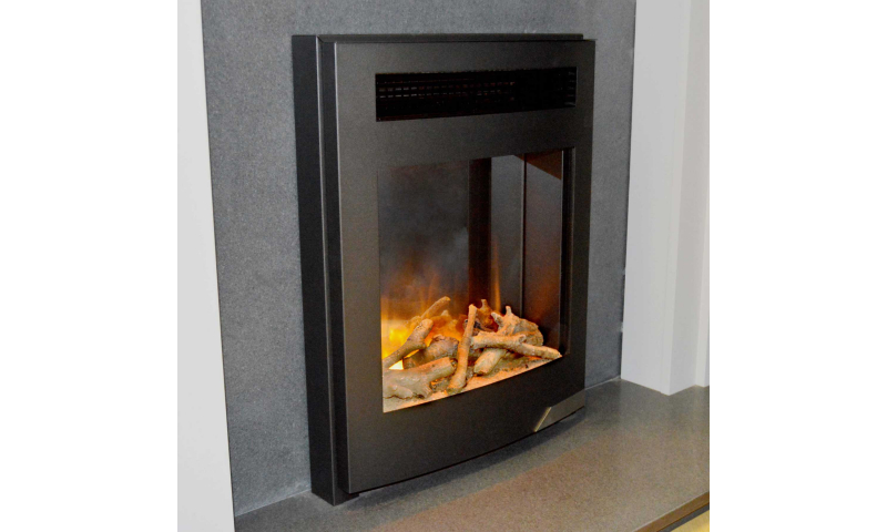 EVONIC EVOFLAME DETROIT BLACK INSET ELECTRIC FIRE WITH MANUAL CONTROL