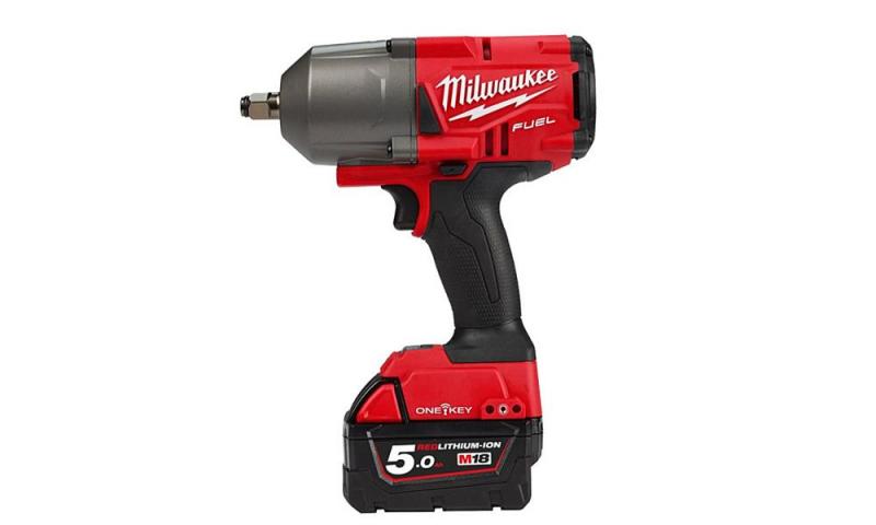"""MILWAUKEEM18ONEFHIWF34-502X 18 Volt High-Torque 3/4"""" Impact Wrench, 2 x 5.0Ah Batteries"""