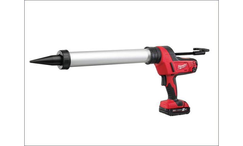 MILC18CG6002 C18 PCG/600A Caulking Gun 600ml Aluminum Tube 18 Volt 1 x 2.0Ah Li-Ion
