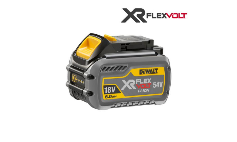 DCB546-XJ 18/54 Volt XR Flexvolt Battery Pack, 1 x 6.0Ah Batteries