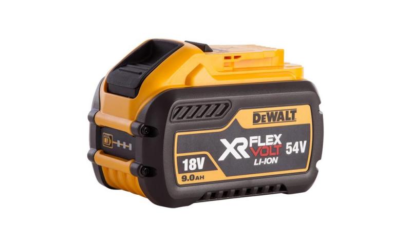 DCB547-XJ 18/54 Volt XR Flexvolt Convertible Battery Pack, 1 x 9.0Ah Batteries