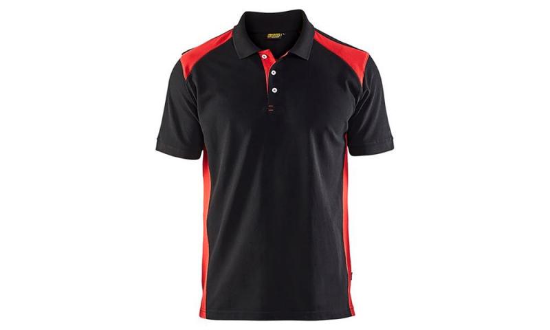 Blaklader Polo Shirt BLACK & RED