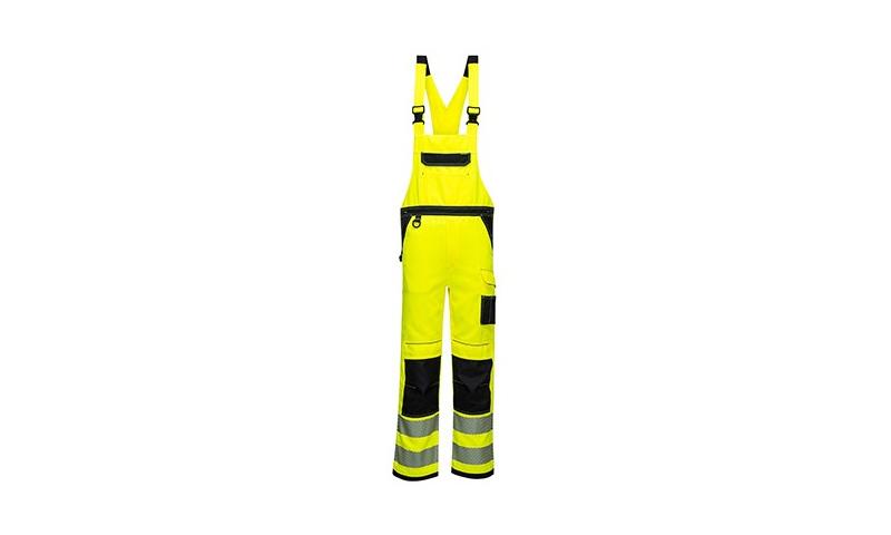 PW344 - PW3 Hi-Vis Bib & Brace Yellow/Black